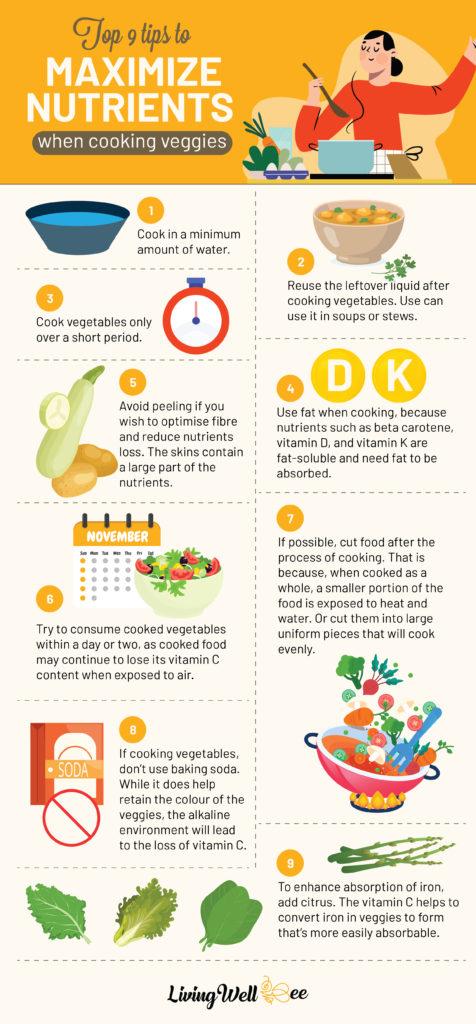 cooking vegetables healthy