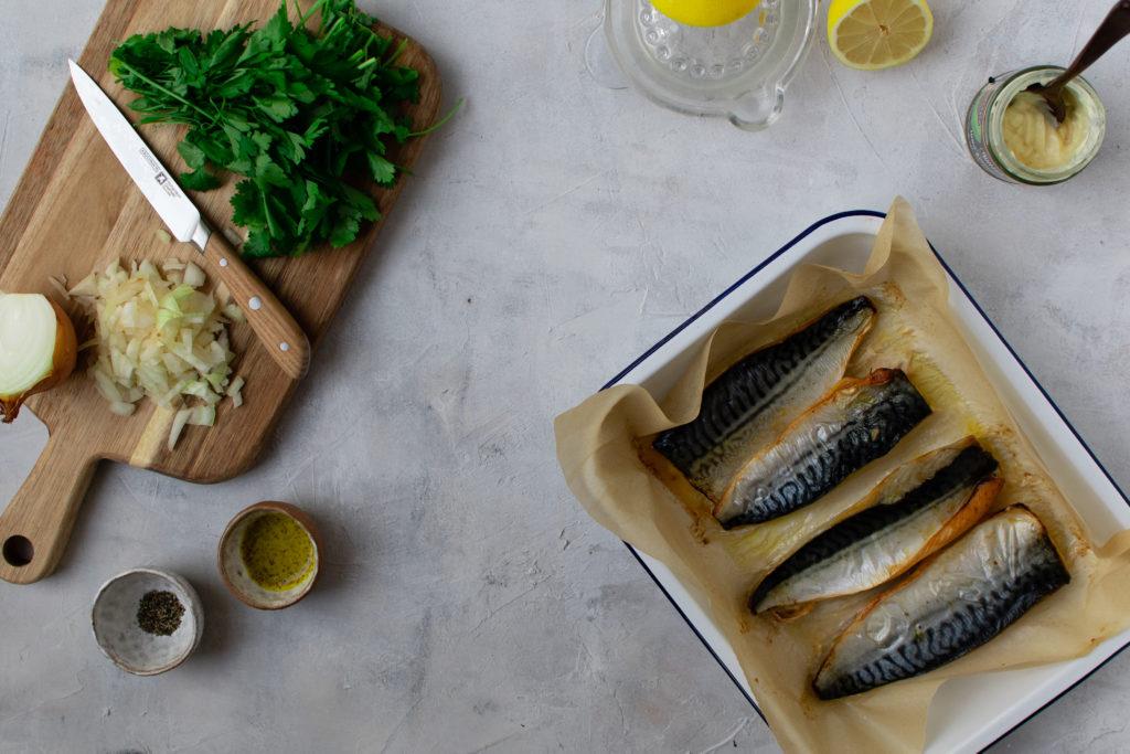 Mackerel Pate cooking