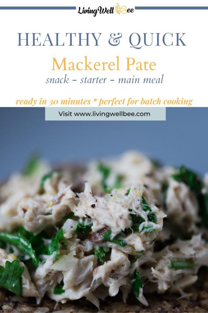 mackerel pate served on bread